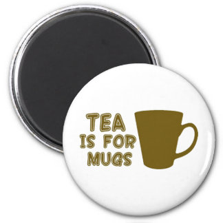 Tea is for mugs 2 inch round magnet