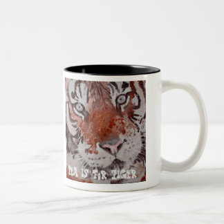 Tea is for Tiger. Bengal Tiger. Save The Tiger Two-Tone Coffee Mug