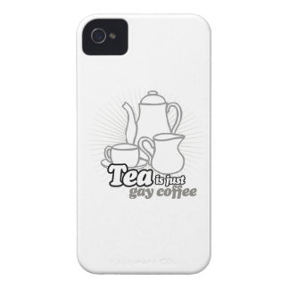 TEA IS JUST GAY COFFEE iPhone 4 CASES