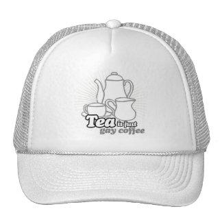 TEA IS JUST GAY COFFEE TRUCKER HAT