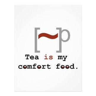 Tea is my Comfort Food Customized Letterhead