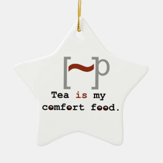 Tea is my Comfort Food Double-Sided Star Ceramic Christmas Ornament