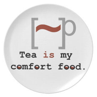 Tea is my Comfort Food Party Plate