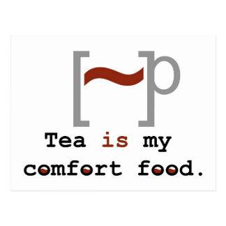 Tea is my Comfort Food Postcard