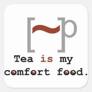 Tea is my Comfort Food Square Sticker