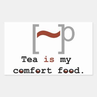 Tea is my Comfort Food Rectangular Sticker