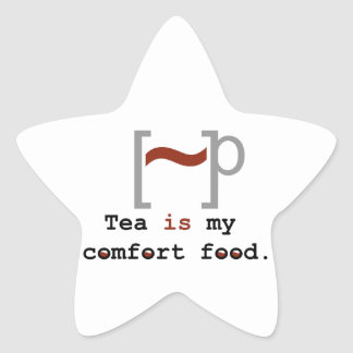 Tea is my Comfort Food Star Sticker