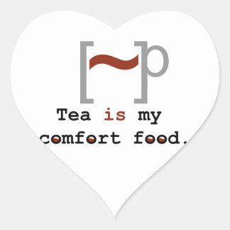 Tea is my Comfort Food Heart Sticker