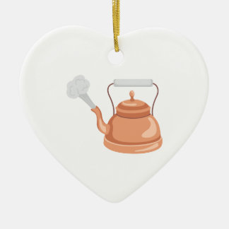 Tea Kettle Ceramic Ornament