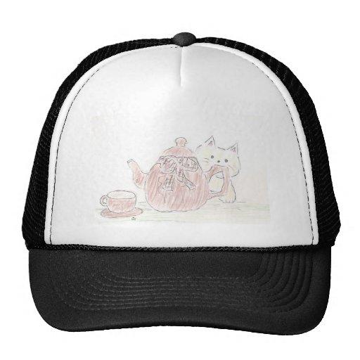 Tea Kettle Kitten Trucker Hat