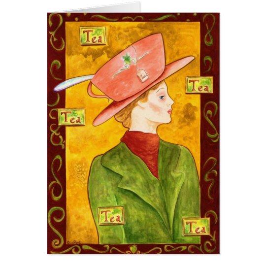 Tea Lady in Green Card