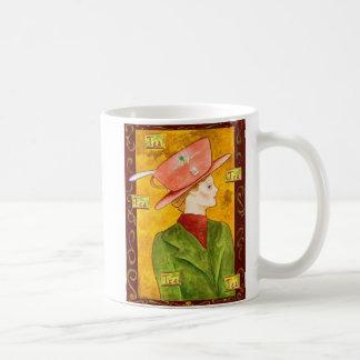 Tea Lady in Green Coffee Mugs