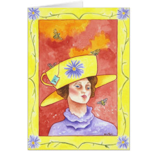 Tea Lady With Bees Card