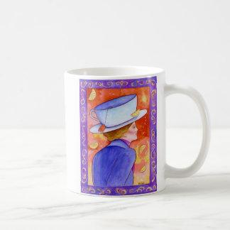 Tea Lady with Floating Lemons Coffee Mug