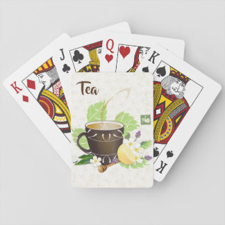 Tea Lemon Honey Botanical Floral Garden Playing Cards
