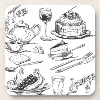 Tea Lounge Beverage Coaster