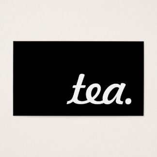 tea. loyalty punch card