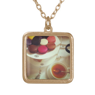 Tea & Macarons Personalized Necklace