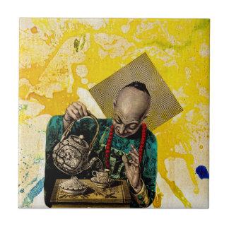 Tea Man by Michael Moffa Tile