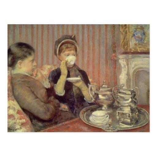 Tea, Mary Cassatt Postcard