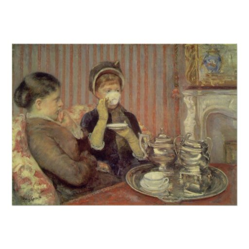 Tea, Mary Cassatt Poster