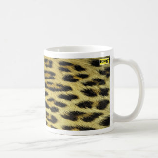 tea mug leopard skin pattern coffee cup