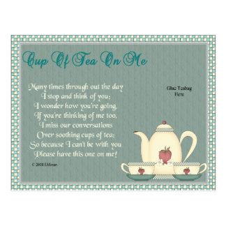 Tea on Me Postcard