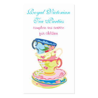 Tea or Ceramic service business cards