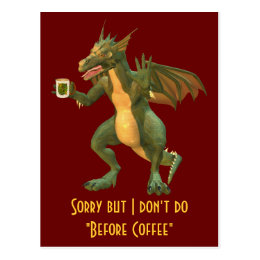 Tea or Coffee Dragon Postcard
