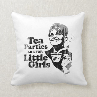 Tea Parties are for Little Girls - Faded.png Throw Pillow
