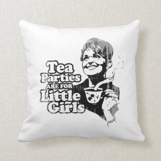 Tea Parties are for Little Girls Faded.png Pillows