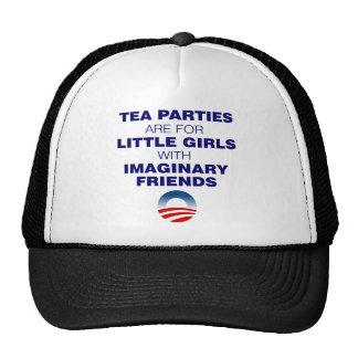 tea parties are for little girls trucker hat