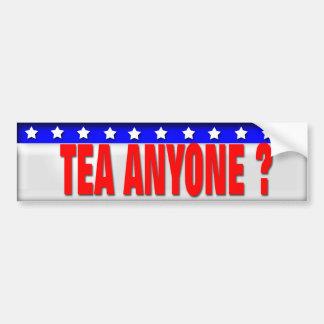 Tea Parties Car Bumper Sticker