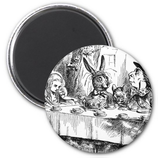 Tea Parties & Madness 2 Inch Round Magnet