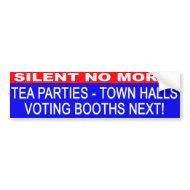 Tea Parties-Town Halls bumper sticker bumpersticker