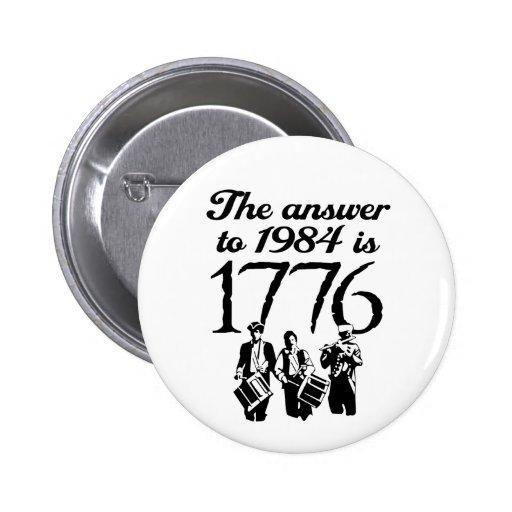 Tea Party 1776 ::  $6.95 Pinback Buttons