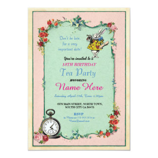 alice in wonderland invitations & announcements | zazzle, Invitation templates