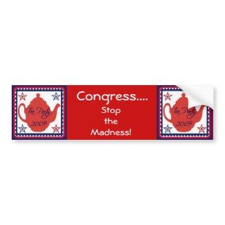 Tea Party 2009 Political Bumper Sticker bumpersticker