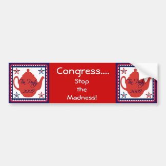 Tea Party 2009 Political Bumper Sticker