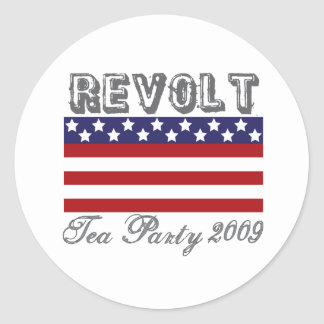 tea party 2009 round stickers