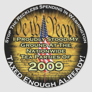 Tea party 2009 stickers