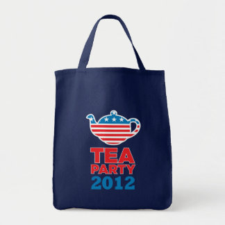 Tea Party 2012 Grocery Tote Bag