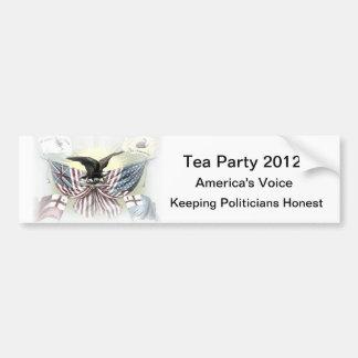 Tea Party 2012 Political Gear Bumper Sticker Car Bumper Sticker