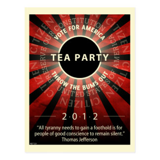 Tea Party 2012 Postcard