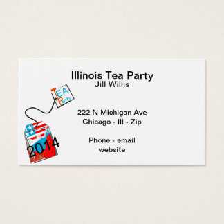 Tea Party 2014 Red White Blue Business Card