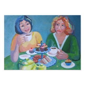 "Tea party 5"" x 7"" invitation card"