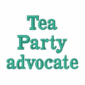 Tea Party advocate embroidered polo shirts