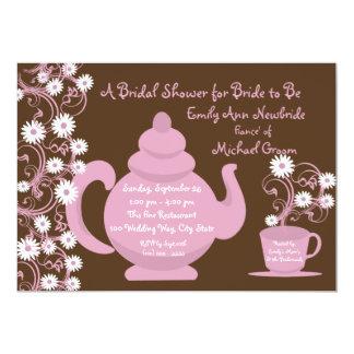 Tea Party and Daisy Bridal Shower Custom Invitations