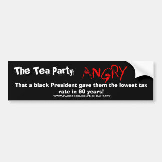 TEA PARTY ANGRY BUMPER STICKERS