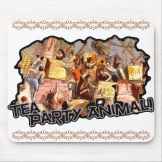 Tea Party Animal (cutout) Mouse Pad